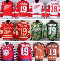 Cheap Hockey Jerseys #19 Steve Yzerman Jersey CCM Vintage Red Throwback All Star White Black Ice Camo Wholesale Stitched Jerseys