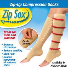 Jambes sexy bas en Ligne-Zip Sox Chaussettes de compression Zip-Up Zipper Bas pour Femmes Leg Support Shaper