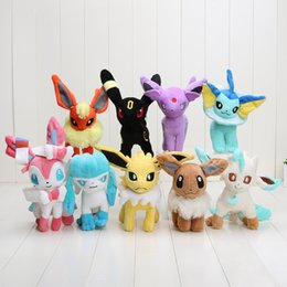 Wholesale Poke plush pikachu Styles cm plush toy Glaceon Leafeon Eevee Vaporeon Flareon Espeon Jolteon Umbreon stuffed doll Best gift