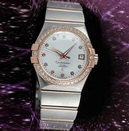 Wholesale Best Brands para mujer relojes de acero inoxidable de lujo del diamante del bisel de zafiro Relojes Blanca Caras Moda de cuarzo de pulsera para la Mujer Chica Virgen