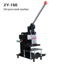 Wholesale Manual hot stamping machine Leather embossing LOGO Branding machine Hot mark machine Bronzing machine V mm