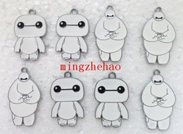 Wholesale Job White Big Hero Baymax Style Charms Earrings Pendants DIY Jewelry Making Gift