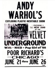 Wholesale 2015 Best Selling x30 Andy Warhol s The Velvet Underground Concert Poster For House