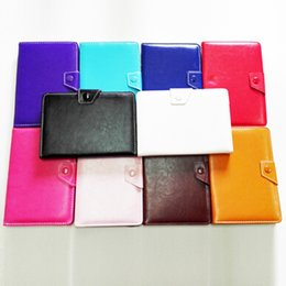Wholesale DHL Free Universal inch Leather Case Crazy Horse pattern material with Multi color suit for Tablet PC MID