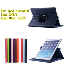 Wholesale For Ipad air ipad air ipad2 ipad mini1 Degregree Rotary cover case Stand PU Leather Cover Cases colors up