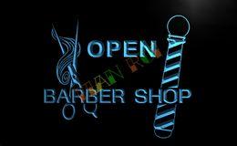 Wholesale LB006 TM OPEN Barber Shop Pole Scissor Neon Light Signs Advertising led panel jpg
