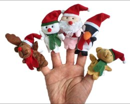 Wholesale DHL Lovely Christmas finger Puppets toys Felt Boards Baby Hand Puppet toy baby Finger Toy