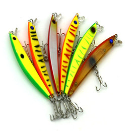Wholesale HENGJIA new mm Fishing Lure Bait trackle Floating trout Minnow CM G Plastic Flat Minnow fishing tackle