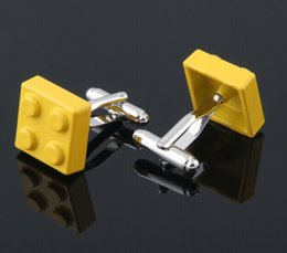Wholesale 2015 designer colors lego cufflinks for mens high quality shirt cufflink novelty cuff links pairs