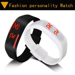 Cool Korean student led silicone electronic watches men and women fashion personality mirror table Jelly couple watches ZM00778