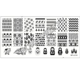 Wholesale Russian Doll Sweater Pattern Nail Art Stamp Template Image Plate BORN PRETTY BP L018 x cm