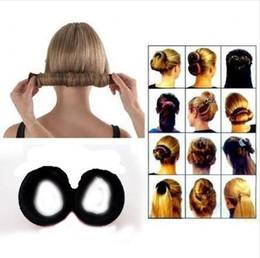 12pcs lot Fashion DIY Black Hairagami Twist Bun Maker Ponytail Holder Donut Tool Headbands French Briad Headwear Hair Accessories d787