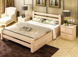 Trailer Bed With pine Beds 1 m 1.2 m 1.5 m 1.8 m baby solid wood children's Bunk Beds Double Bedroom furniture