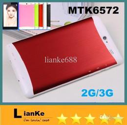 Wholesale 7 inch hd screen dual core phablet built in g gps bluetooth phone calling tablet pc MTK6572 Dual camera flashlight MB RAM GB
