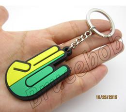 Auto JDM flag car modification New Driver Badge WAKABA Shocker hand key chain Keychain Keyfob keyring