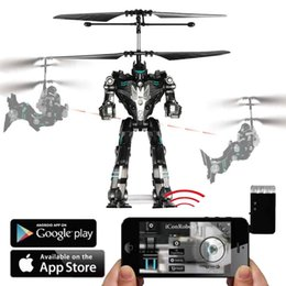 Wholesale Wifi Mobile phone Control iPhone iPad ios android Remote Control Heli copter Plan RC flying robot Advanced fun kids adult Toy birthday gift