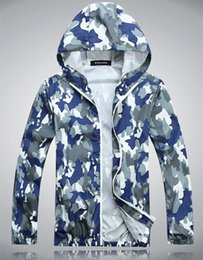 Wholesale Summer Men and women Beach Wear Prevent Bask Clothes Long Sleeve Casual Coat Sun Protection Clothing Camouflage Zipper Shirts