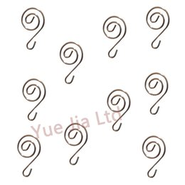 10pcs Silver Spiral Scroll Hooks Hangers Crystal Wedding Tree wedding centerpieces