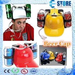 Wholesale Price piece Beer Can Holder Helmet Drinking Helmet Drinking Hat Beer Cap wu