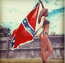 Wholesale Confederate Rebel Civil War Battle Flag Two Sides Printed The Confederate Battle Flag Polyester Union Flags x5ft x150cm