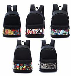 Hot Sales Mens Backpacks Women Shoulder Bag CanvasSimple Designer Printing Backpack Schoolbag Mochila Graffiti Unisex Rucksack