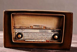 Wholesale 2015 New Style Vintage Radio Model Arts and Crafts for Home Decoration Novelty Nostalgic Resin Radio Souvenirs