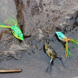 Wholesale Dead-Eye 65mm 11g Soft Bass Crankbait Topwater Frog Fishing LureTackle Hook Crank Bait Bass free shipping