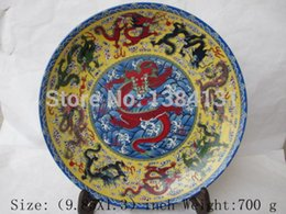 Wholesale In ancient Chinese painting color flower dragon porcelain plate