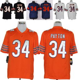 Wholesale Drop Ship Men s Bears Walter Payton Elite Stitched Name Number Jerseys Orange Blue White Mix Order Accept