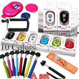 hot sale Self Photograph Sets Handheld Self-portrait Monopod Bluetooth Selfie Shutter Camera Remote Controller for all phones