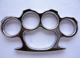 Wholesale Alloy KNUCKLE DUSTER BELT BUCKLE SHACKLE PUNCH self defense gift