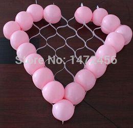 Wholesale Inch Air Balls Glossy Version Ballons Sweet Wedding Supplies Heart Balloon Mesh Holes Party Grid love Holder