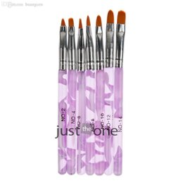 Wholesale-Set of 7 nail art pens, brushes for design & painting 2015 new nail draw painting tool