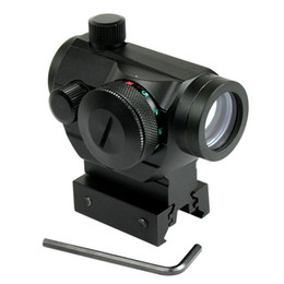 Tactical Reflex Red Green Dot Sight Scope w  Dual High   Low Profile Rail Mounts