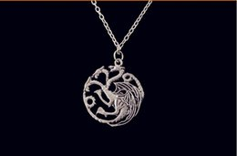 Wholesale Best selling necklace Flim Jewelry Daenerys Targaryen Dragon Necklace Game of Throne Fire And Blood