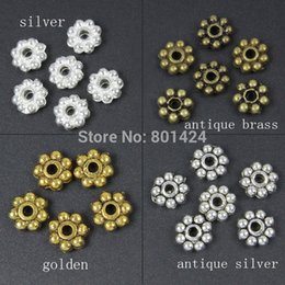 Wholesale Tibetan zinc alloy silver glod bronze plated mm Daisy spacer beads bali beads