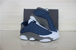 retro 13 xiii basketball shoes sneakers XIII mens basketball shoes cheap sneakers 2015 new blue grey white low cut Outdoor sports shoes