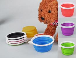 Wholesale-New  folding bowl dog bowl out pet bowl dog waterer Soo3