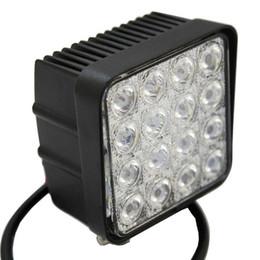 4.5 inch 48W 16x3W Square LED Work Light 12V 24V Spot Flood Car LED Headlight for Truck 4x4 Boat SUV Lamp