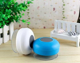 Wholesale shiping free mini Speaker Waterproof Wireless Bluetooth Speaker Shower Car Handsfree Receive Call mini Suction IPX4 speakers box player