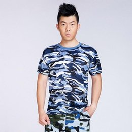 Wholesale-Women Men Camouflage Military Short Sleeve T-Shirt Combat Army Tee Shirt Top