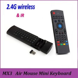 Wholesale MX3 X8 Air Mouse Remote Mini Wireless Keyboard IR Learning Axis For MXQ Pro M8S Plus T95 X6 Pro TV BOX