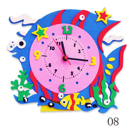 Wholesale Deal DIY foam clock craft kits Art cartoon clock Kindergarten supplies Home decoration Family games Kids toys