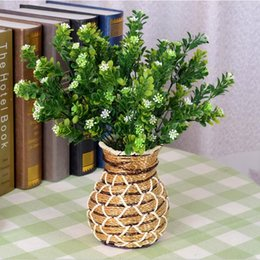 Wholesale M bluegrass Artificial plants party decoration real touch silk flowers rose balls weddings wreath