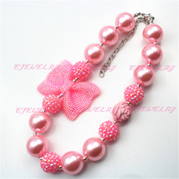 Girls Pink Chunky Necklace, Valentines Chunky Necklace ,girl Valentines chunky necklaceCB600