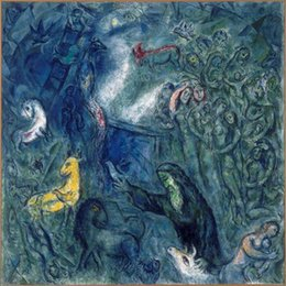 Wholesale Famous artwork Marc Chagall oil Painting Reproduction Noahs Ark Hand painted High quality