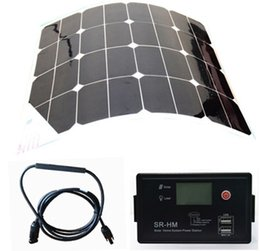 Wholesale factory sale directly W sunpower flexilble solar panel V V Auto USB solar charge controller solar power home system