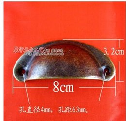 Wholesale BL086 antique plate semicircular iron handle furniture Chinese real drawer handle semicircular shell handle