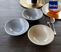Wholesale British DENBY Western dish soup bowl rice bowl of new bone soup bowl Cheap European export quality