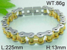 Wholesale FC Card round supply of new European and American fashion double bicycle chain radiation titanium steel bracelet personalized custom jewelry